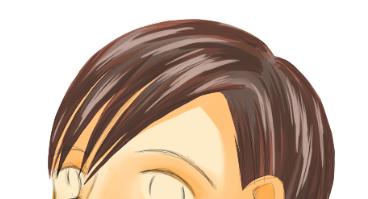髪の光沢を塗る